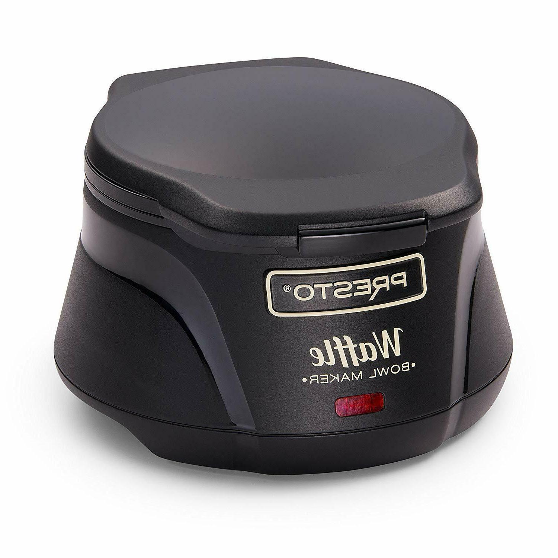 Belgian Waffle Bowl Maker Machine Size Black New