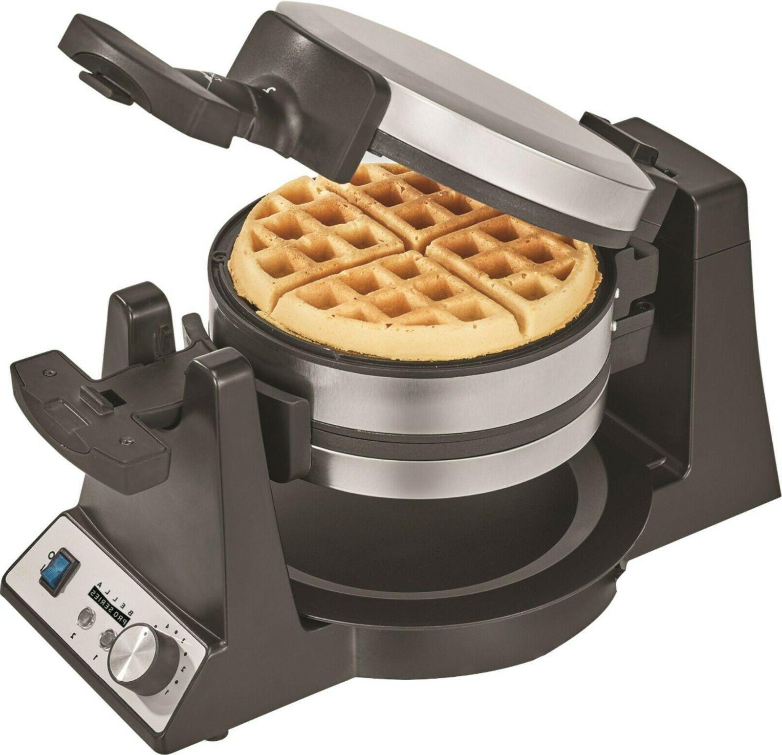 Bella Pro Series Belgian Flip Waffle Maker Stainless Steel