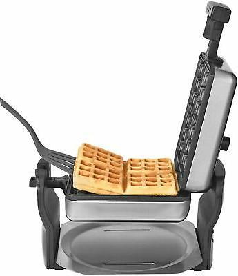 Bella Series 4-Slice Rotating Waffle - Stainless Steel