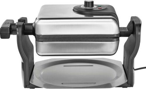 pro series belgian flip waffle maker stainless