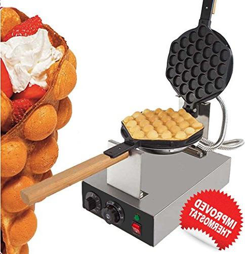 puffle waffle maker rotated nonstick