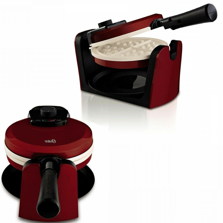 red waffle maker belgian breakfast kitchen commercial