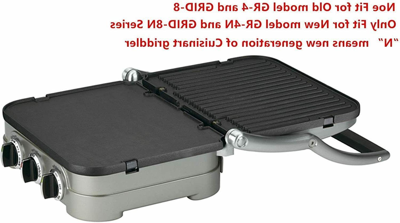 Reversible Grill/Griddle for Cuisinart GR-4N 5