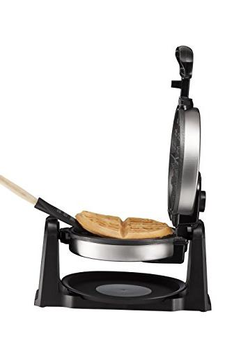 Chefman Maker Flip Waffle Iron w/Non-Stick Plates Creates Restaurant Adjustable Drip Plate,Stainless