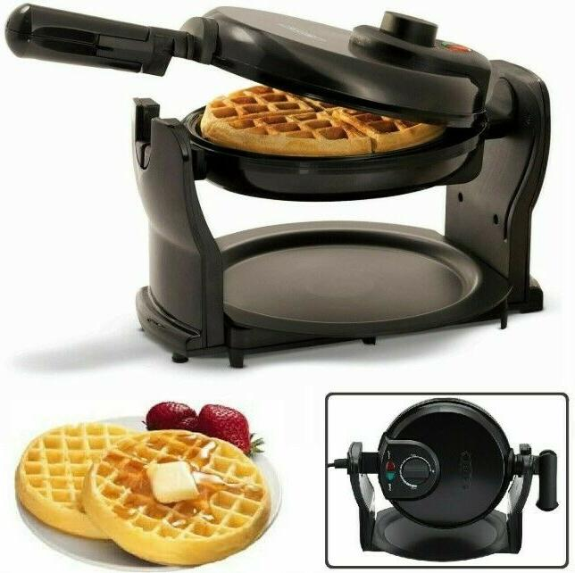 Rotating Waffle Commercial Stick Round Breakfast Iron