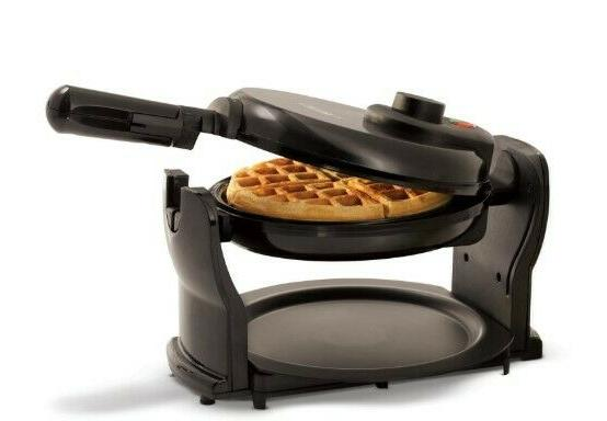 Rotating Belgian Waffle Maker Commercial Non Stick Breakfast Iron