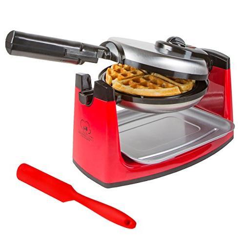 rotating belgian waffle maker stainless