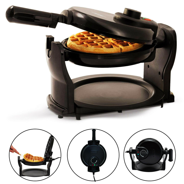 rotating non stick classic belgian waffle maker