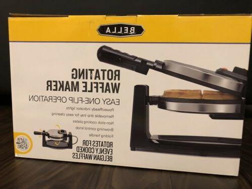Bella Rotating Waffle Maker Polished Stainless Steel- New