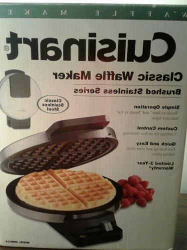 round classic waffle maker machine iron baker