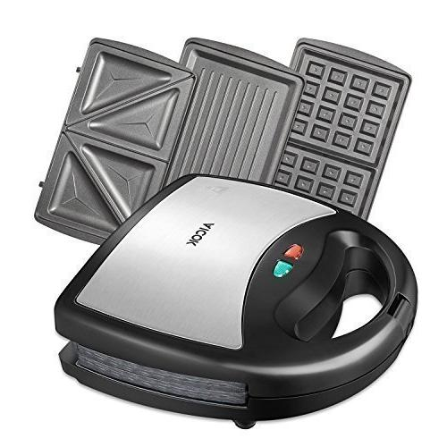 Aicok Maker, Waffle maker, 3-in-1 Detachable Non-stick