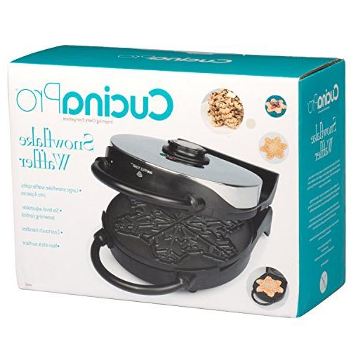 Snowflake Waffle Winter Holiday Griddle w Control