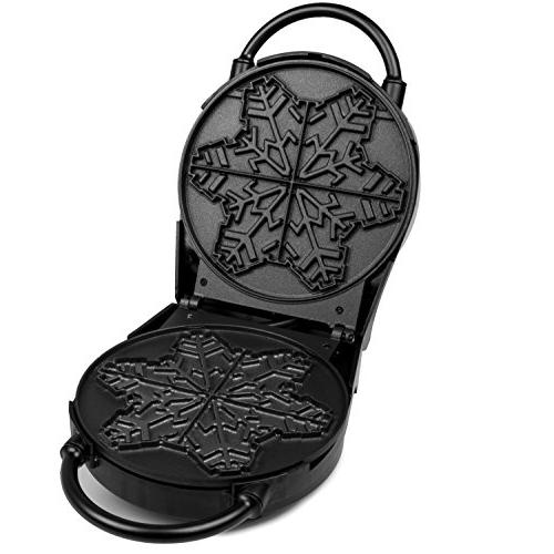 Snowflake Waffle Maker- Winter Holiday Griddle Adjustable Browning Control