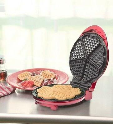 Kalorik Stainless Steel Heart Shape Waffle Maker for Childre