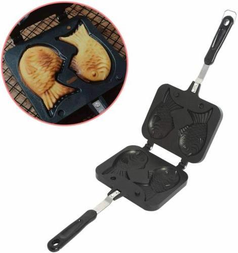Taiyaki Pan Waffle Maker Pan Fish-Shaped Mold