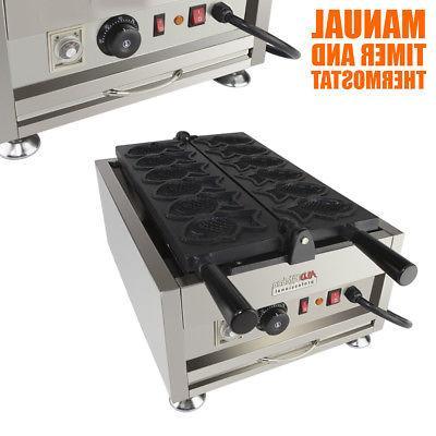 Taiyaki Maker 110V ALDKitchen 6 pcs Commercial Use or