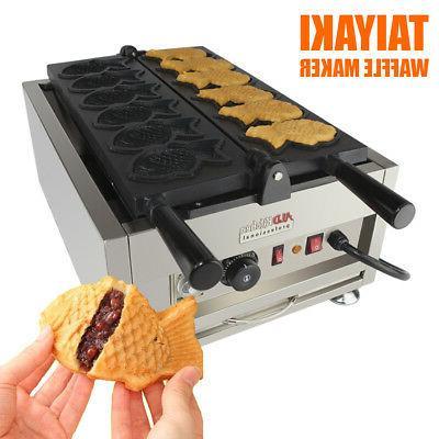 taiyaki fish waffle maker 110v 6 pcs