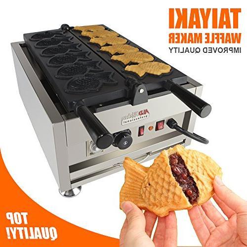 taiyaki fish waffle maker commercial