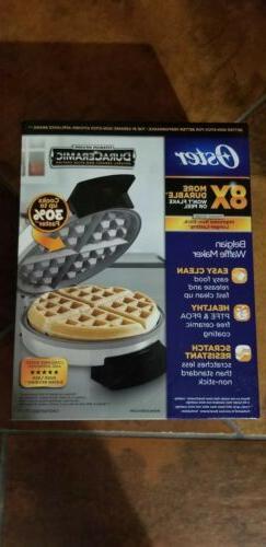 Oster Titanium Infused DuraCeramic Belgian Waffle Maker CKST