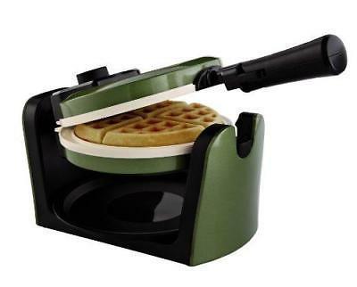 Oster Titanium Infused DuraCeramic Flip Waffle Maker, Green