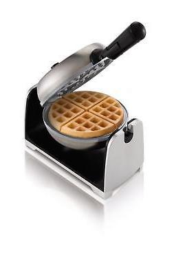 Oster Titanium Infused DuraCeramic Flip Waffle Maker, Stainl