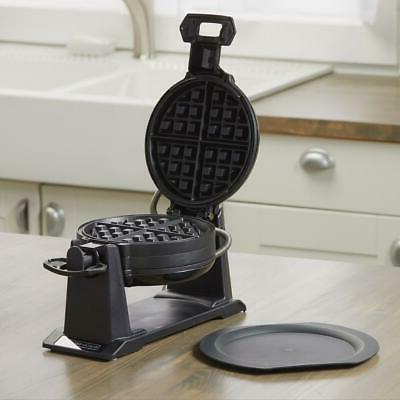 traditional belgian waffle maker rotating nonstick dual