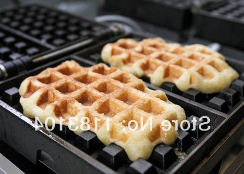 Turnable 220v Electric Belgian Machine Baker Iron
