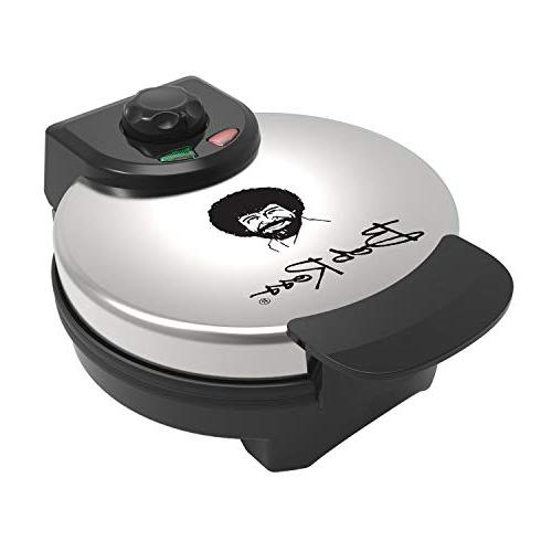 Uncanny Brands Bob Ross Waffle Maker Iconic on Your Waffles -