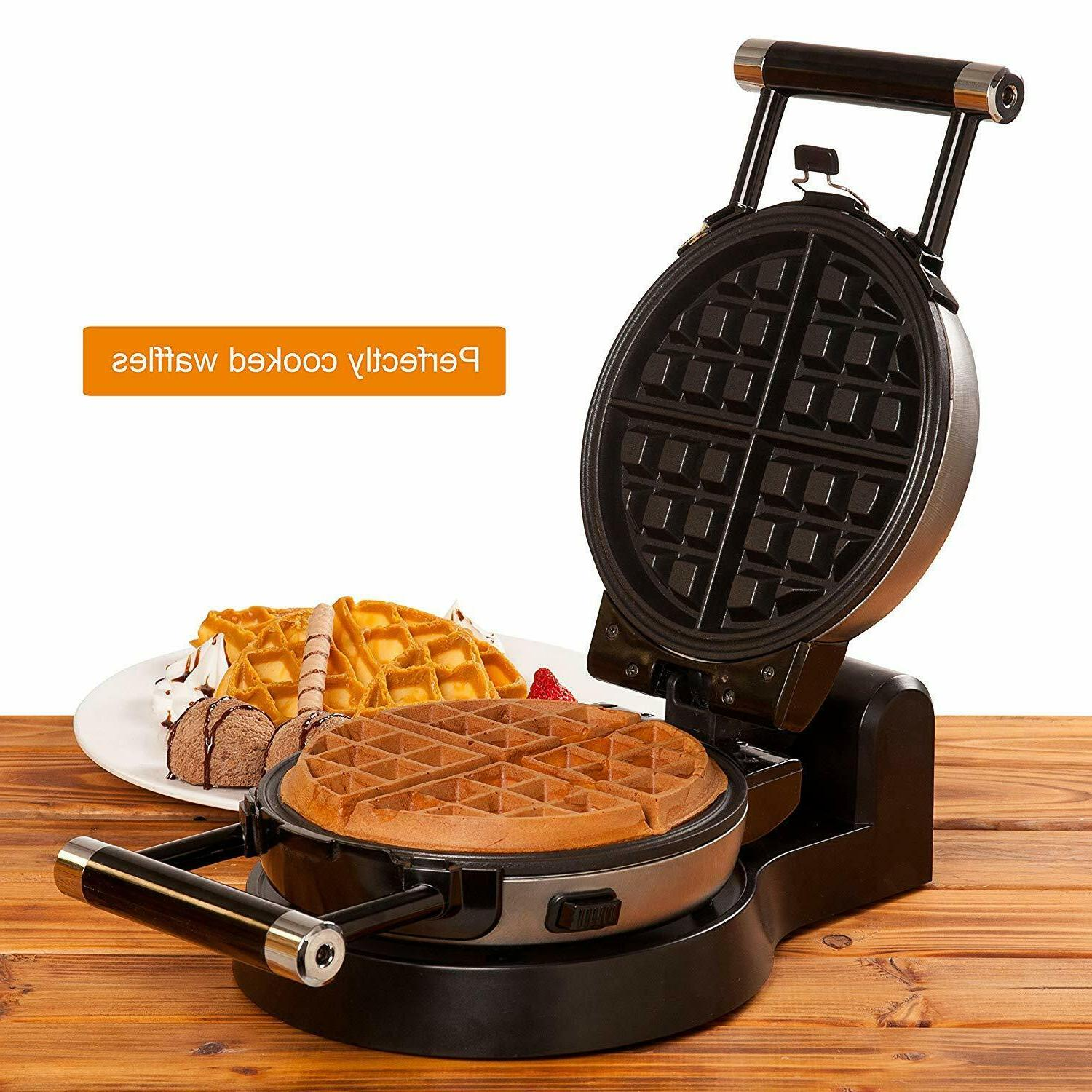 Upgrade Automatic 360 Rotating Belgian Waffle Maker Plates 2