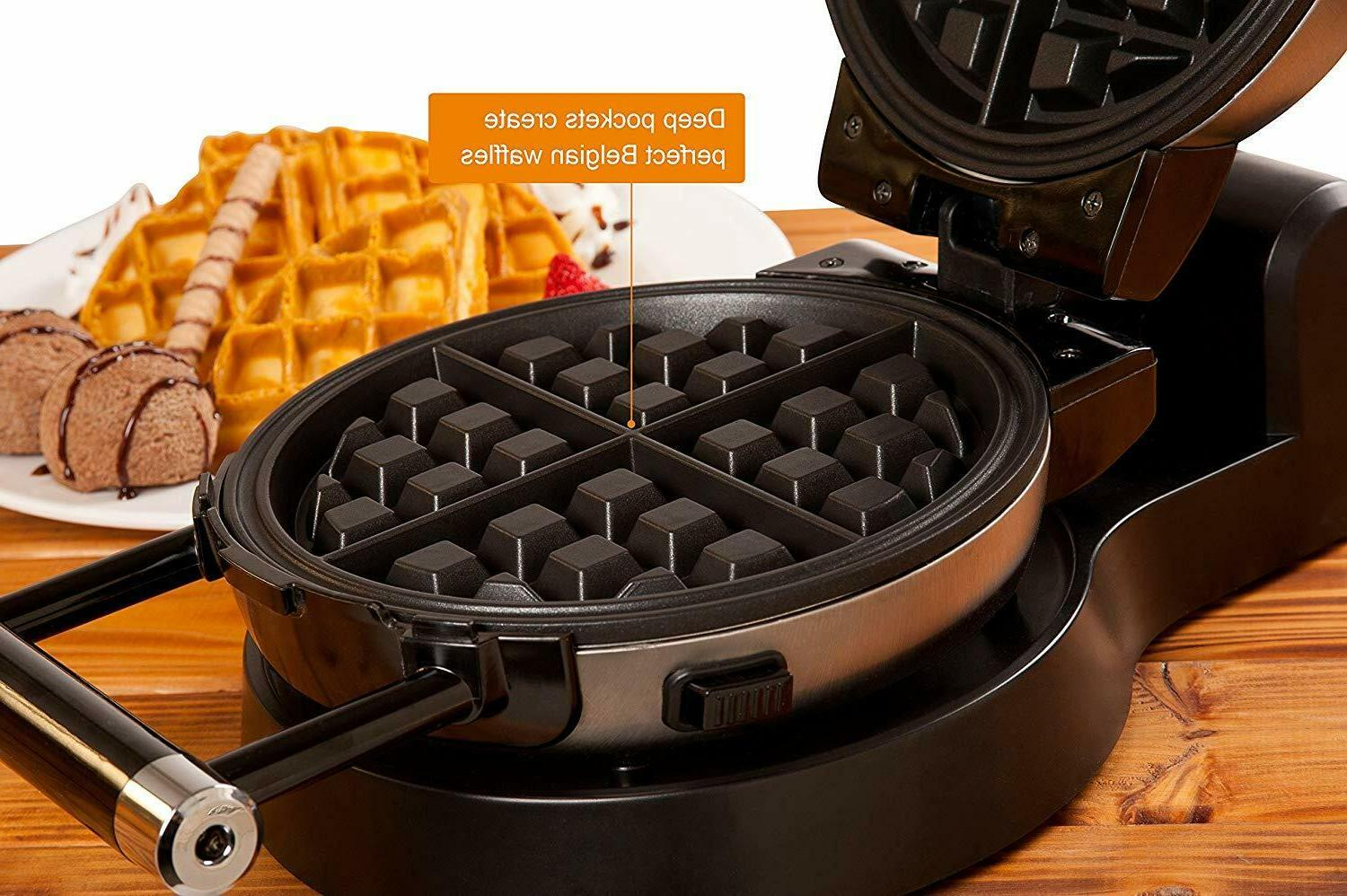 Upgrade Automatic 360 Rotating Belgian Waffle Plates 2 Year