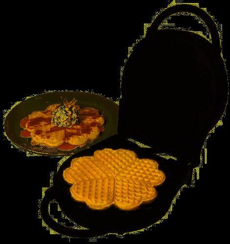 v3100 classic waffler heart shaped