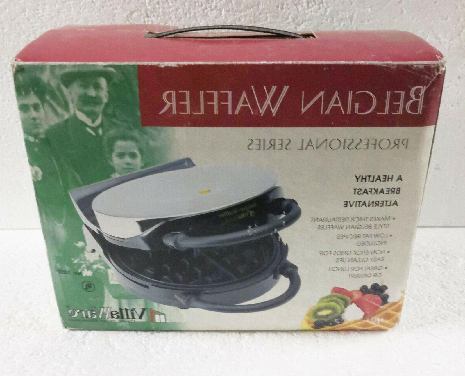 villaware v3200 classic belgian waffler round