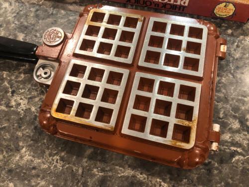 Vintage Nordic Belgian Waffler 15000 Stove Top Waffle Iron in Box