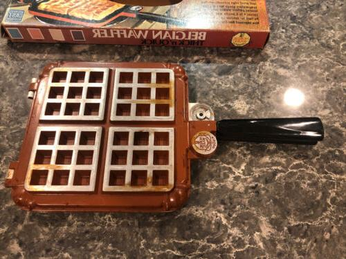 Vintage Belgian 15000 Stove Top Waffle Iron in Box