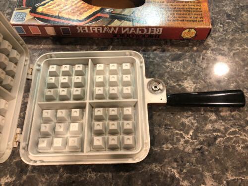 Vintage Ware Belgian 15000 Top Waffle Iron Box