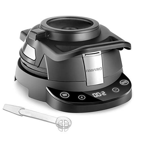 Chefman Perfect Belgian Waffle-Iron Mess-Free Waffles, Programmable Touchscreen Nonstick Plates, Cleaning Tool Measuring Cup Included