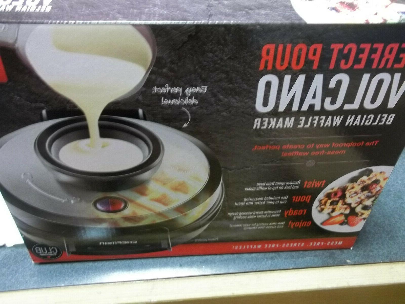 volcano waffle maker black transparent