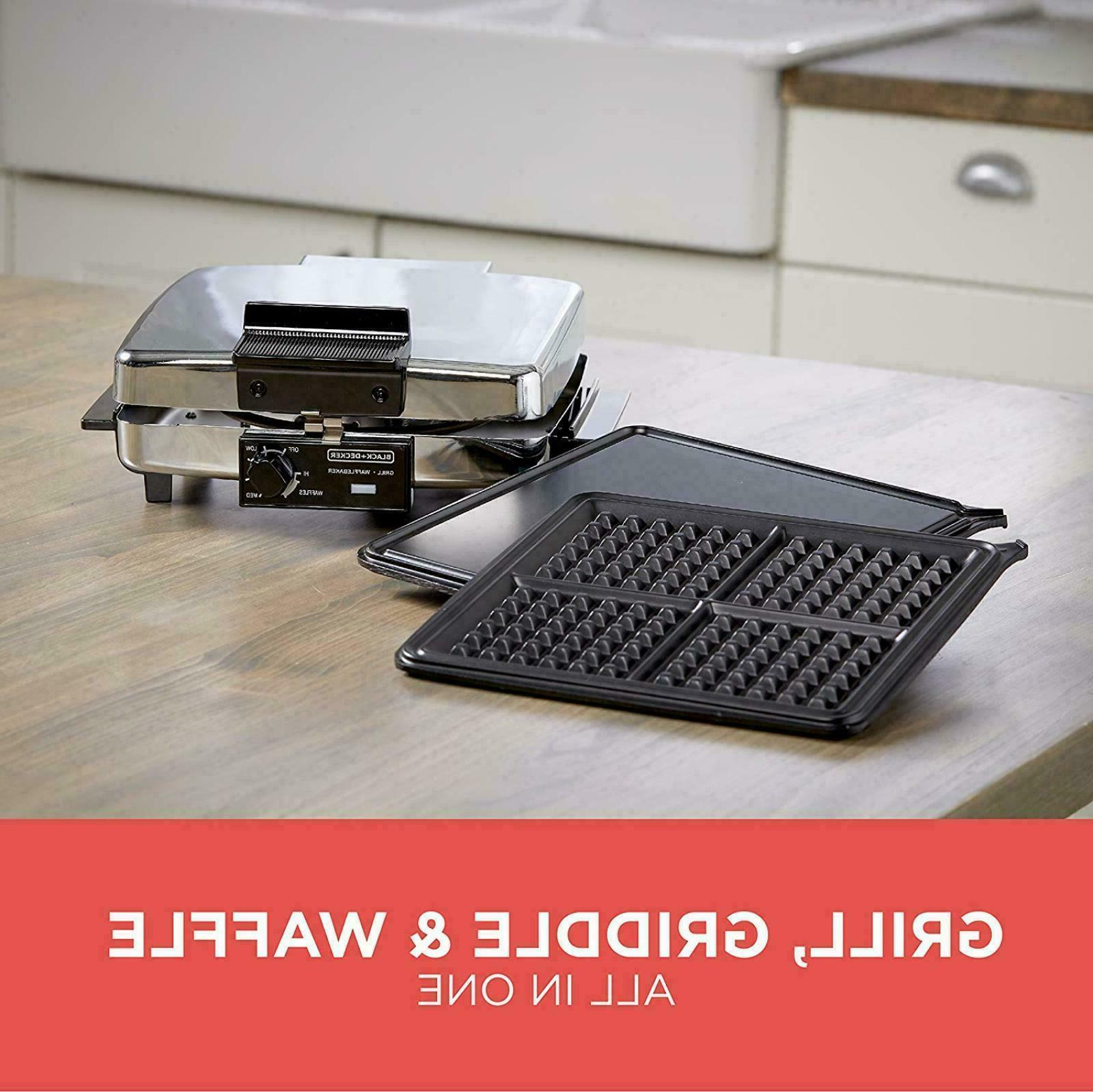 Waffle Iron Maker Nonstick Removable