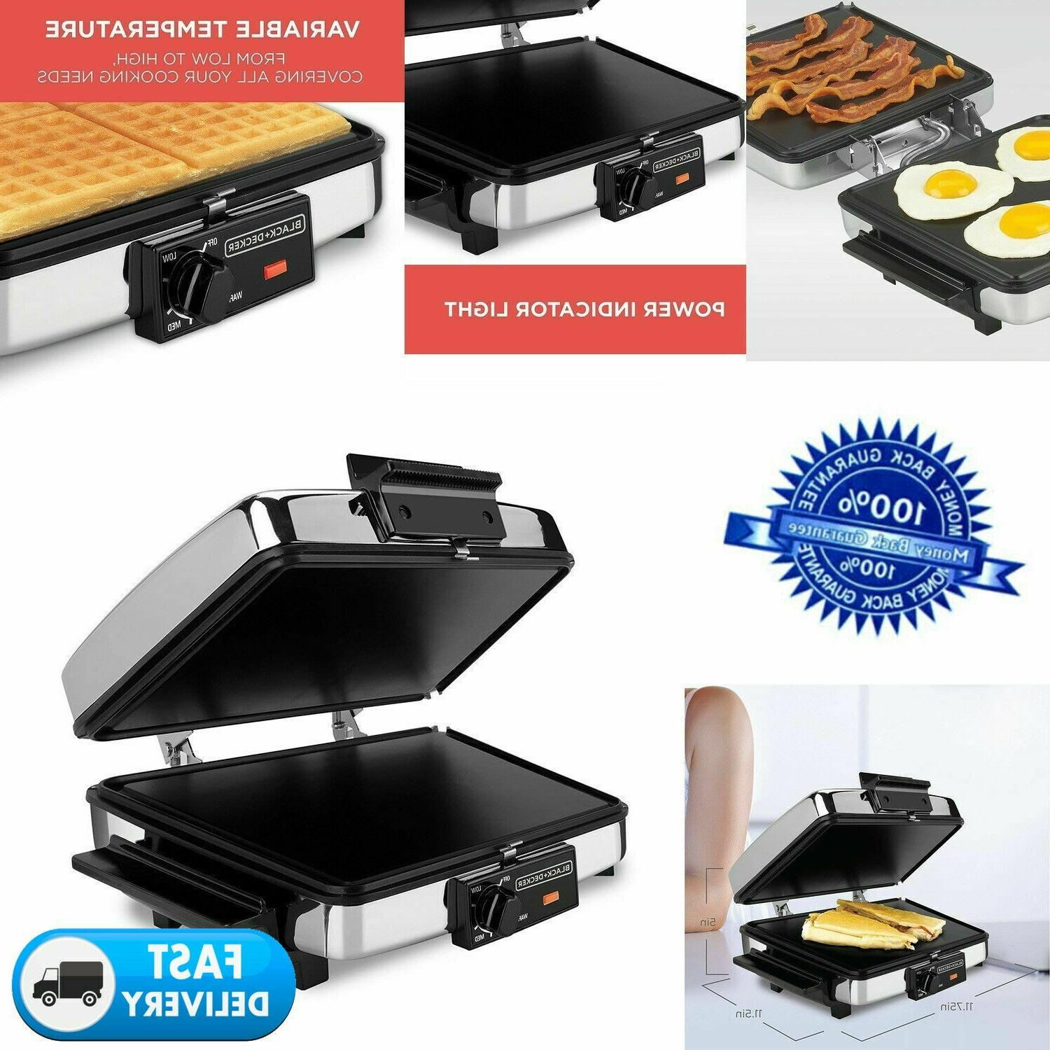 waffle iron griddle sandwich maker indoor grill