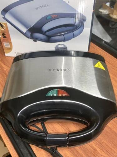 waffle maker 2 slice cool touch handles