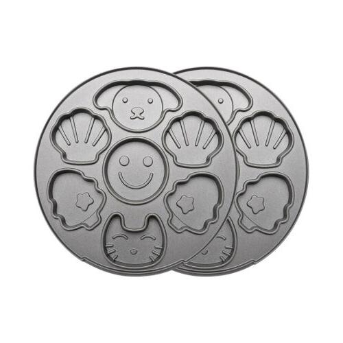3 IN Waffle Maker For Heart-Shaped Cartoon Cakes