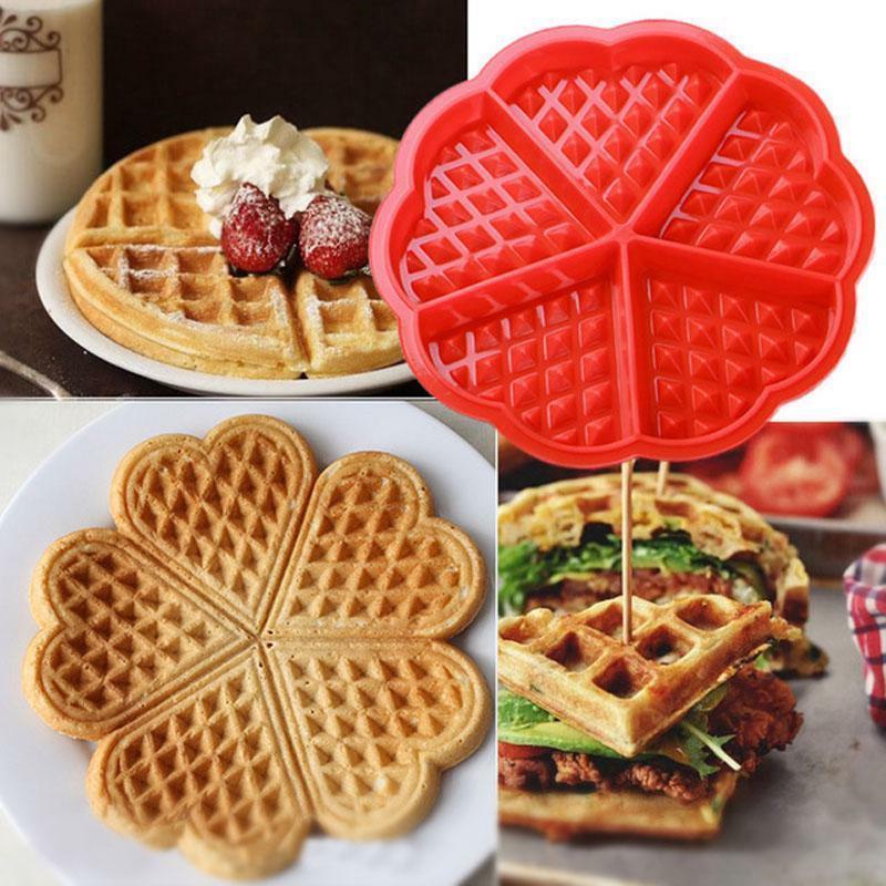 waffle mold shape maker nonstick iron pan