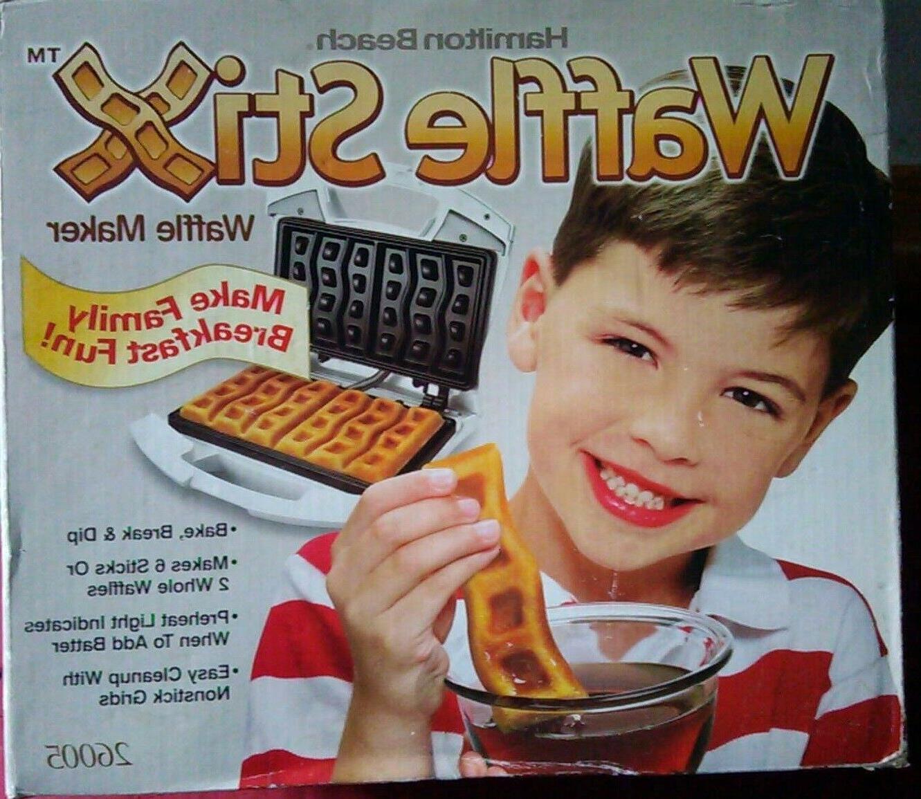 waffle stix waffle maker model 26005 new