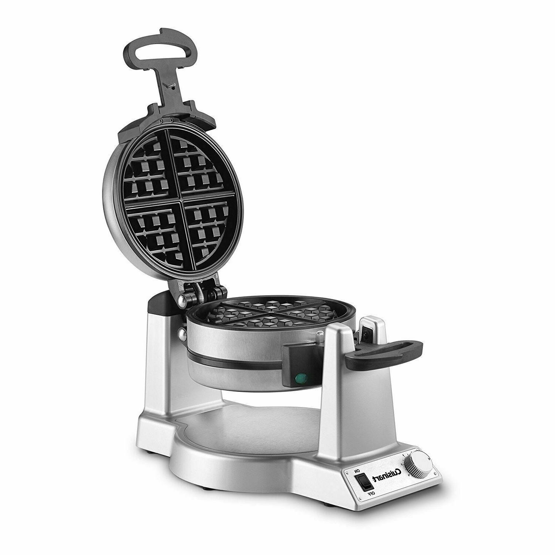 Waring Pro Double Belgian Waffle Maker Iron Gourmet Baker Br