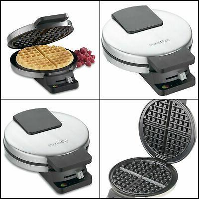 wmr ca round classic waffle maker new