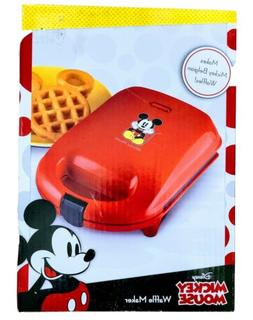 Disney Mickey Mouse Red Belgium  Waffle Maker .Brand New.