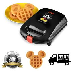 Mickey Mouse Shaped Mini Waffle Maker Non-Stick Baking Plate