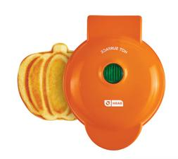 "DASH MINI 4"" PUMPKIN WAFFLE MAKER ELECTRIC"