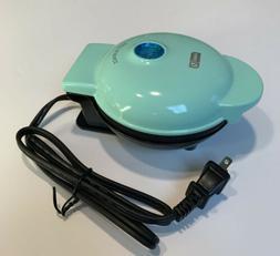 """Dash Mini 4"""" Waffle Maker Non Stick  350 Watts Aqua Brand Ne"""