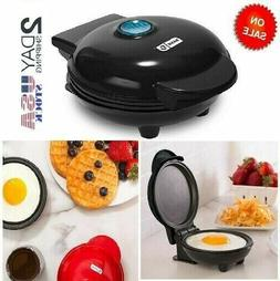 Mini Electric Round Pancake Maker Dash Cooking Griddle Non S